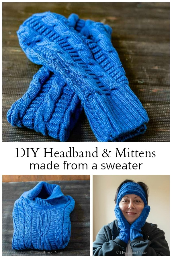 Mitten and headband collage.