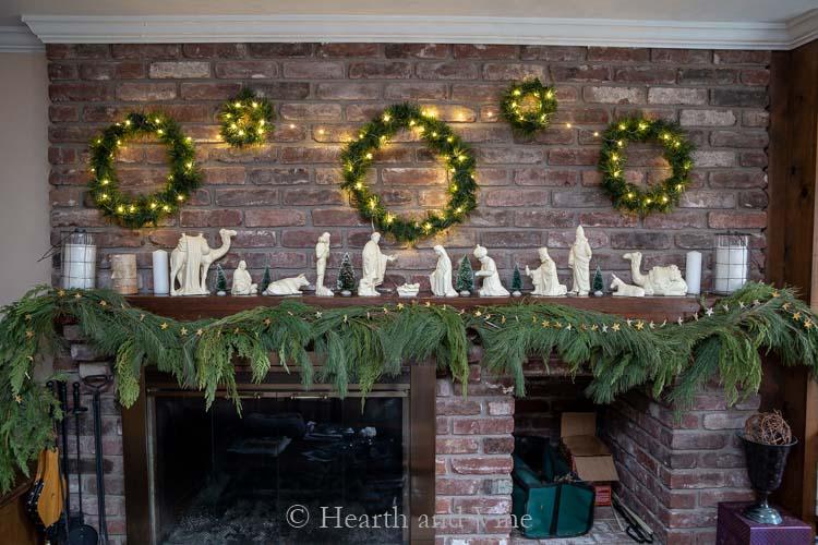 Fairy lights on wreath gallery