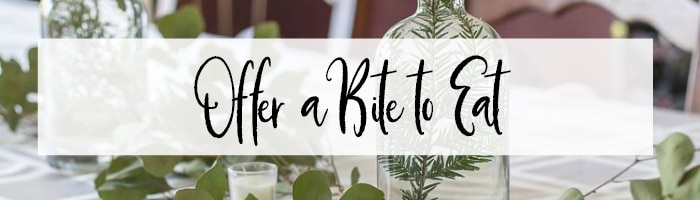 Offer a bite to eat banner