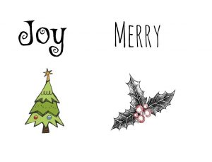 Joy, Merry, Tree and Holly patterns