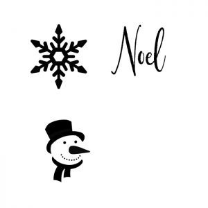 Snowman, snowflake and Noel pattern