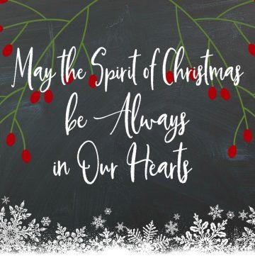 Spirit of Christmas Printable