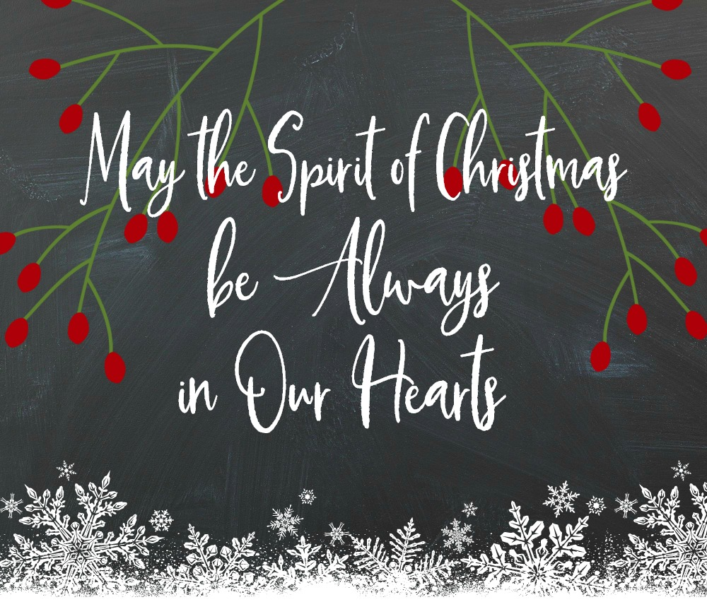 Spirit of Christmas Printable