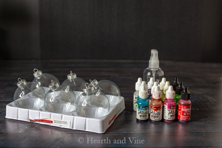 Alcohol ink ornament supplies