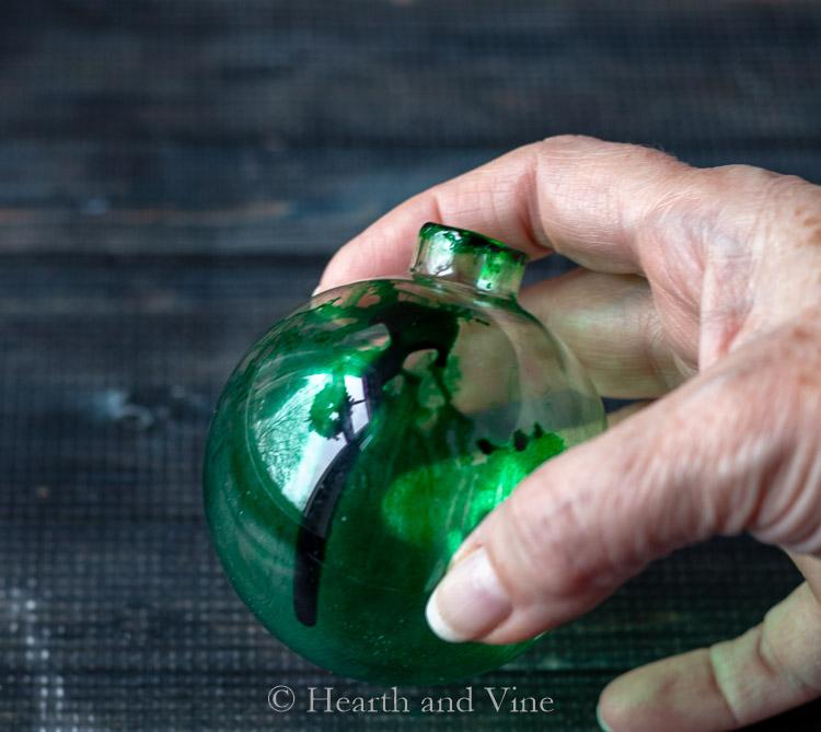 Messy green ornament