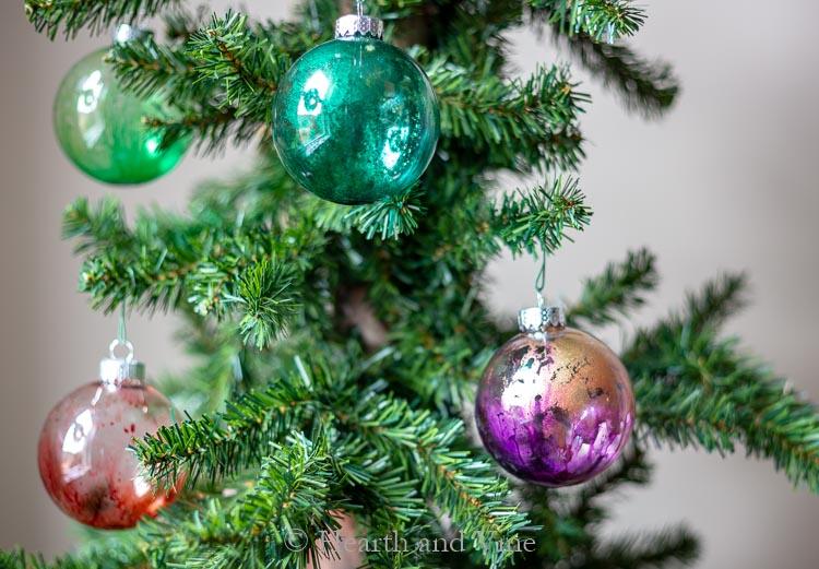 Interior alcohol ink ornaments