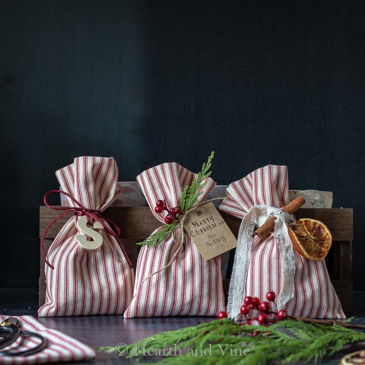 Christmas treat bags - trio