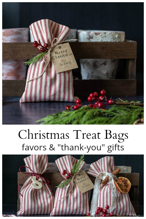 Christmas treat bags collage