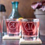 DIY glass etching for barware