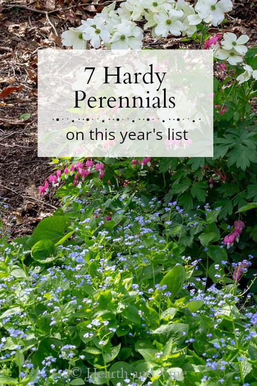 Spring garden background for hardy perennial list post