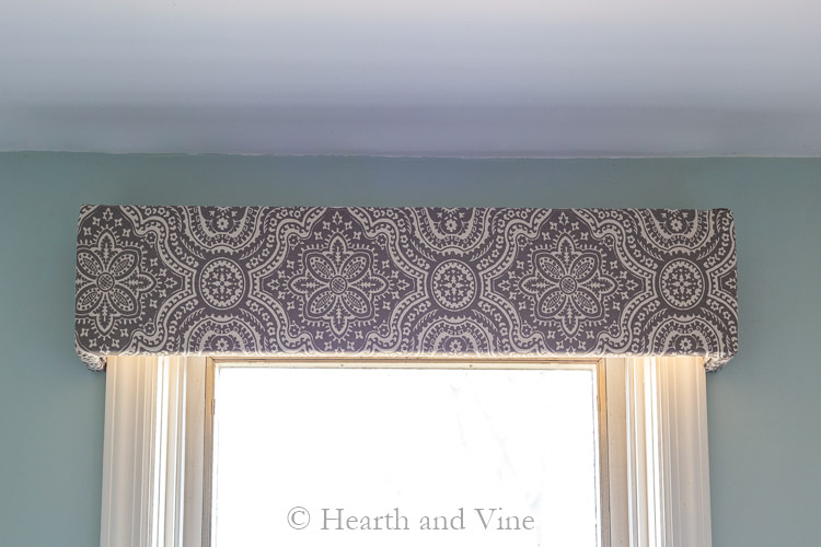 Fabric covered window valance