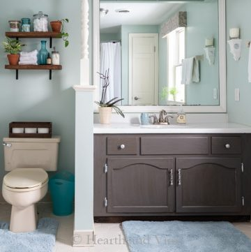 Updated bathroom on a budget
