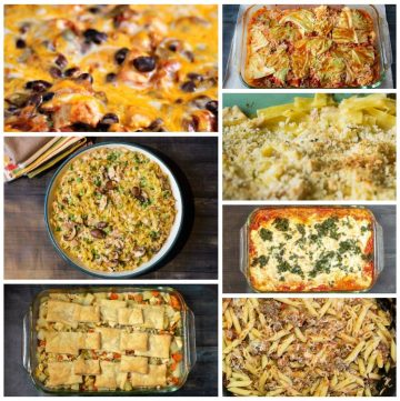 casserole recipe collage
