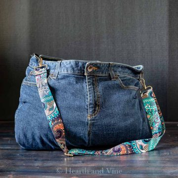 Weekender denim bag