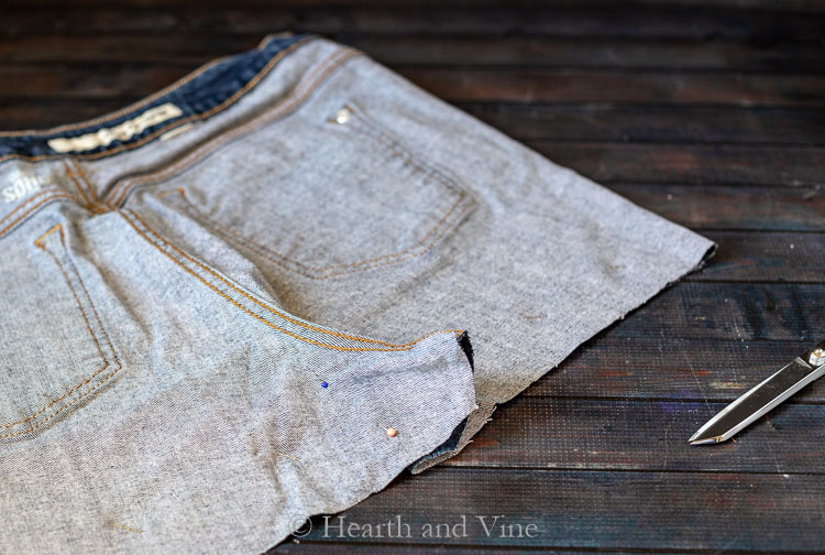 Sewing the back center seam