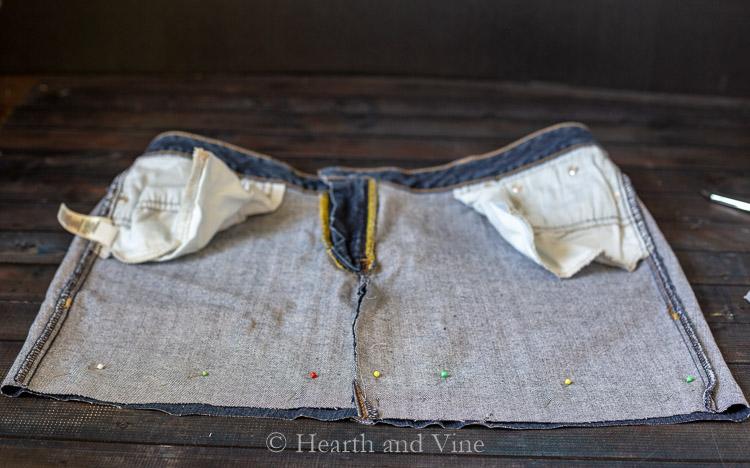 pinned bottom hem