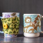 How to Make a Mug Cozy with Fabric