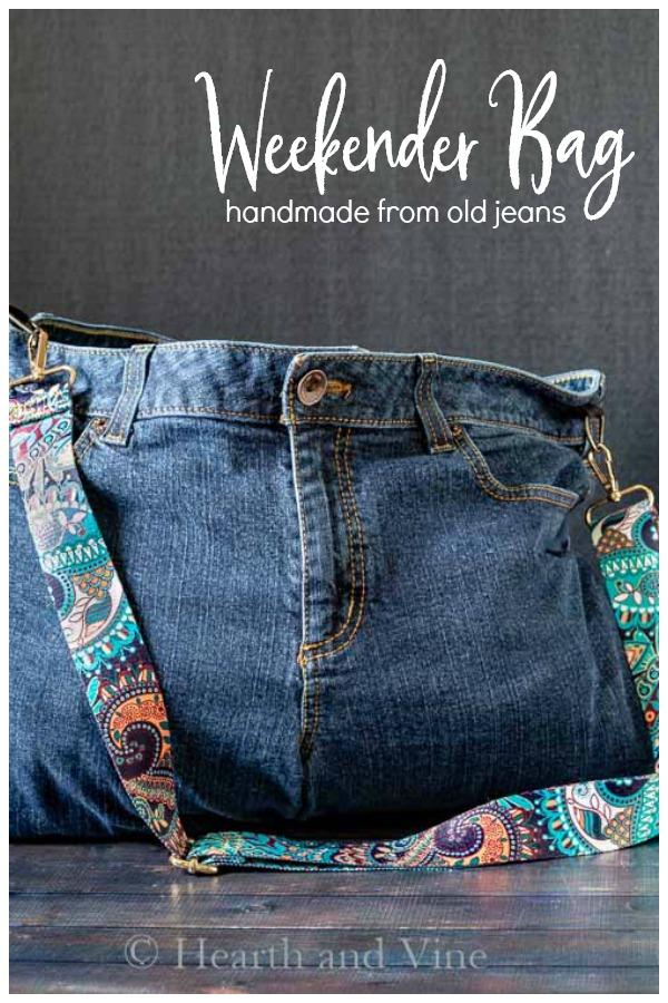 Handmade jeans bag