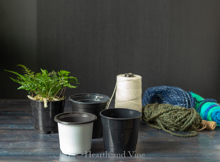 DIY woven planters supplies