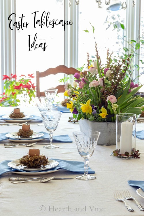 Spring tablescape decor