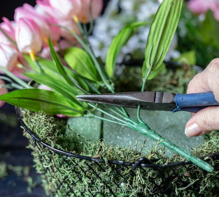 flowers and wirecutters