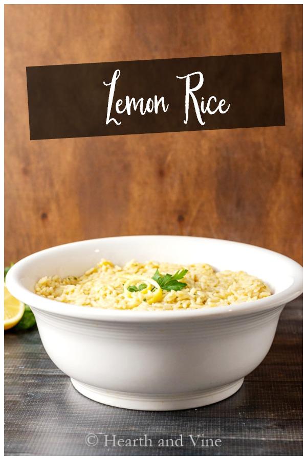 Lemon rice serving bowl