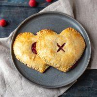 Heart Shaped Raspberry Pie