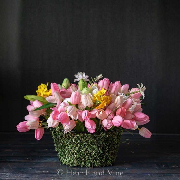 finished flower basket