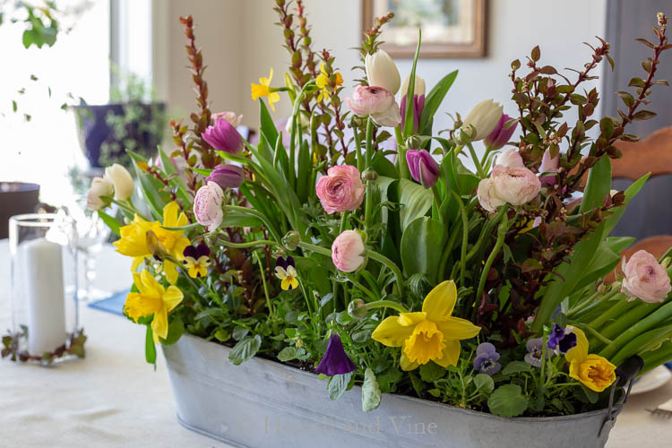 Spring flower centerpiece
