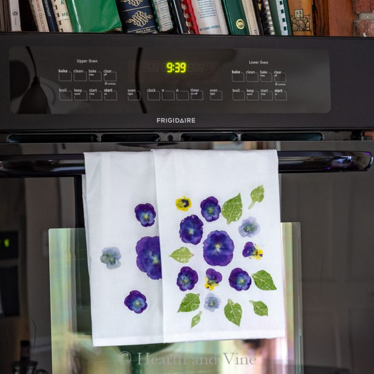 Flower Pounded Tea Towels