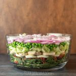 7 layer salad side view