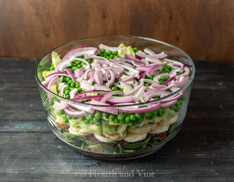7 layer salad from the top