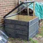 DIY cold frame from wood and an old window