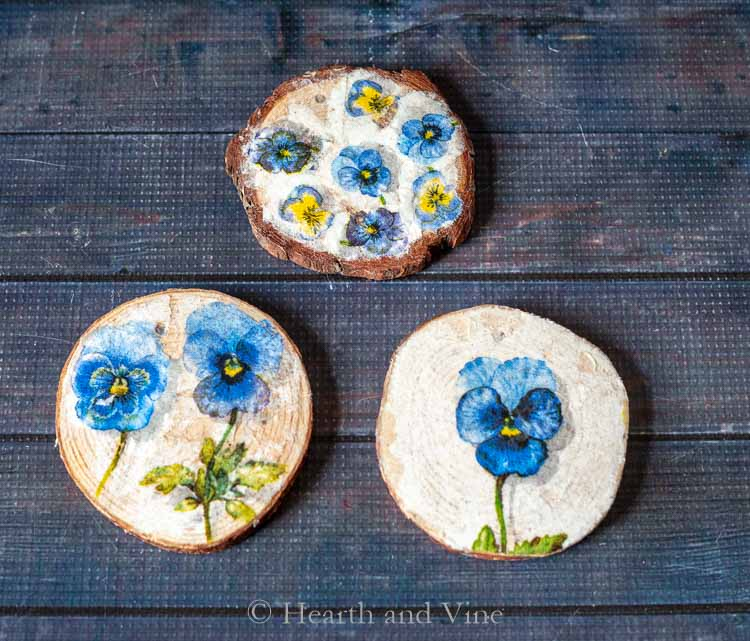 decoupage coasters by hearth and vine