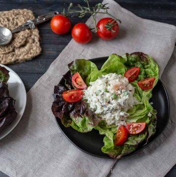 Wild rice seafood salad