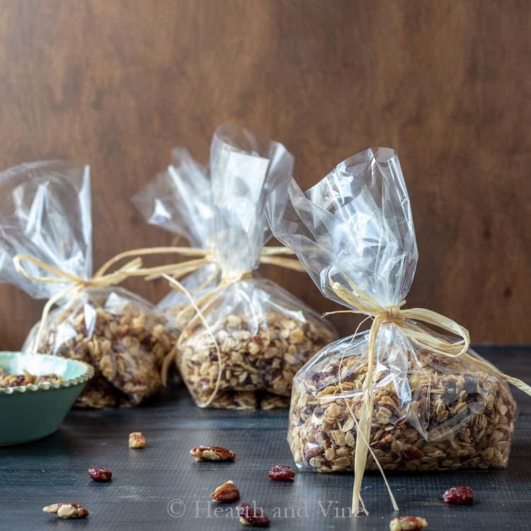 Bags of granola