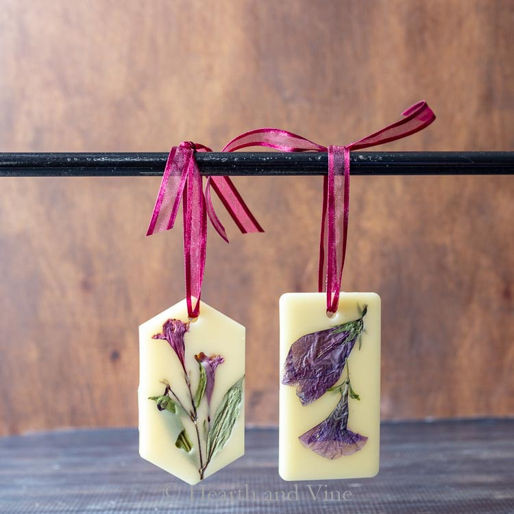 Pink and purple flower scented sachets