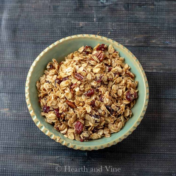bolwl of homemade granola