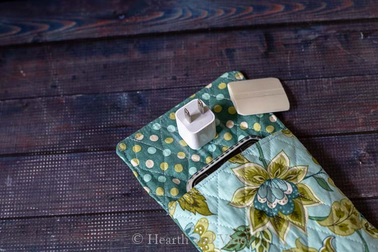 Power adapter marked on fabric