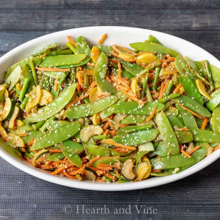 Sesame ginger stir fry vegetables