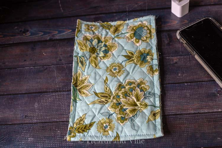 Sewn edges of fabric