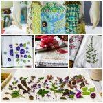 Tea towel crafts collage