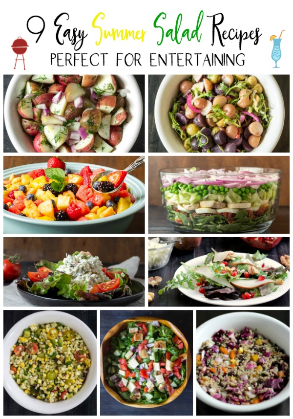 Group of different salads