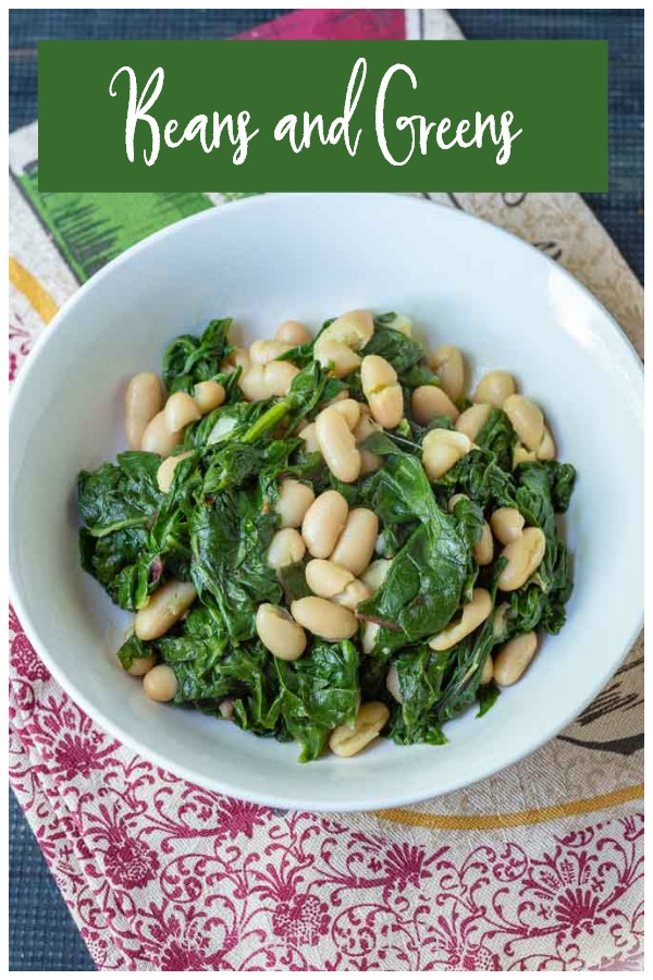 Beans and greens with swiss chard