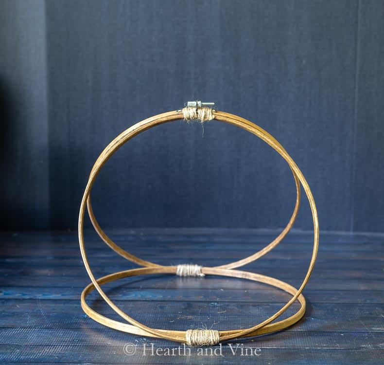 Finished three hoop hanger