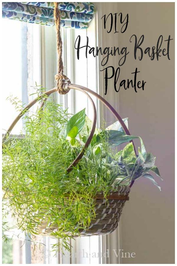 Hanging basket planter DIY