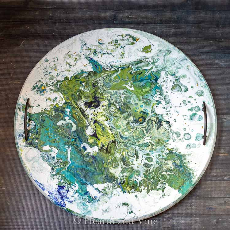 Acrylic pour painting tray