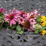 Center of fresh flower garland