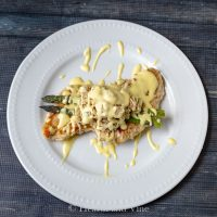 Chicken Oscar with Hollandaise Sauce
