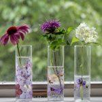 Pressed flower vases